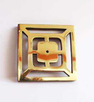 5*5 wooden Backplate of knob with brass