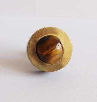 Small knobs with brass with tiger eye stone