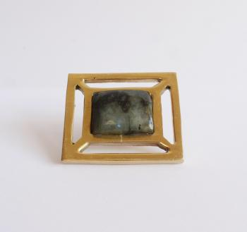 Rectangle solid brass knob