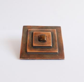 Square stair Solid brass knob