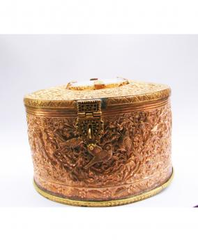 Hand carved Copper Jewelry Box