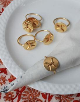 PISCES Zodiac Brass Napkin Ring- Set of 4 (20 Feb- 20 March)