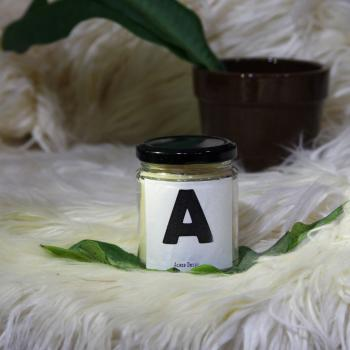 A Initial - MESSAGE PERSONALIZED SOY AROMA CANDLE
