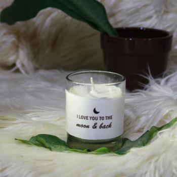 Love you to the Moon & Back- MESSAGE PERSONALIZED SOY AROMA CANDLE