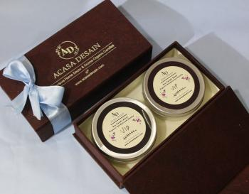 Vip Soy Aroma Tin Candle set of 2