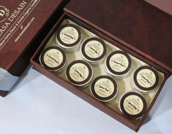 Mini Lemongrass Soy Aroma Tin Candle set of 8