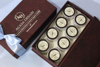 Mini Mogra Soy Aroma Tin Candle set of 8
