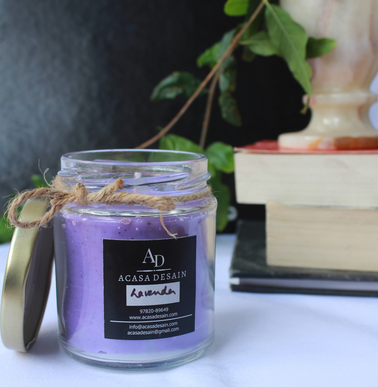 Lavender Soy Wax Aroma Jar Candle